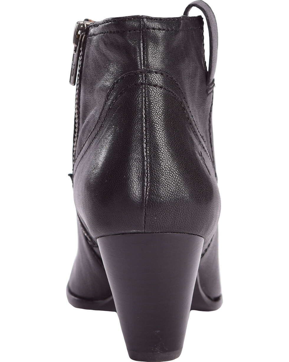 Frye Women's Black Reina Leather Booties - Pointed Toe , Black, hi-res