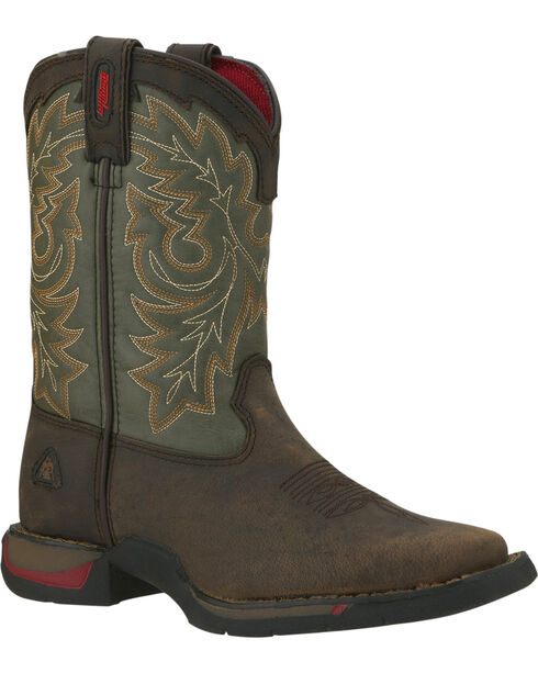 Rocky Youth Long Range Western Boots - Square Toe, Tan, hi-res
