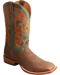 Twisted X Men's Brown Hooey Cowboy Boots - Wide Square Toe , , hi-res