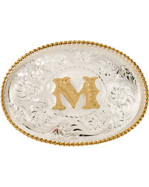 Montana Silversmiths Initial M Western Buckle, , hi-res