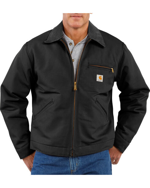 Carhartt Men's Duck Detroit Jacket, Black, hi-res