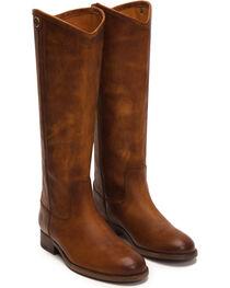 Frye Women's Cognac Melissa Button 2 Tall Boots - Round Toe , , hi-res