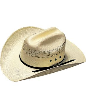 PBR Kids' Bangora Straw Cowboy Hat, Natural, hi-res