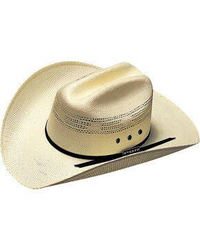 PBR Kids' Bangora Straw Cowboy Hat, Natural, hi-res