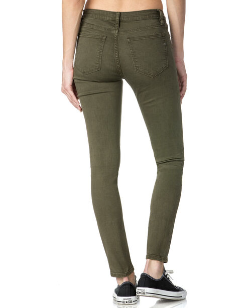 Miss Me Women's Green Ignite The Night Jeans - Skinny , Green, hi-res