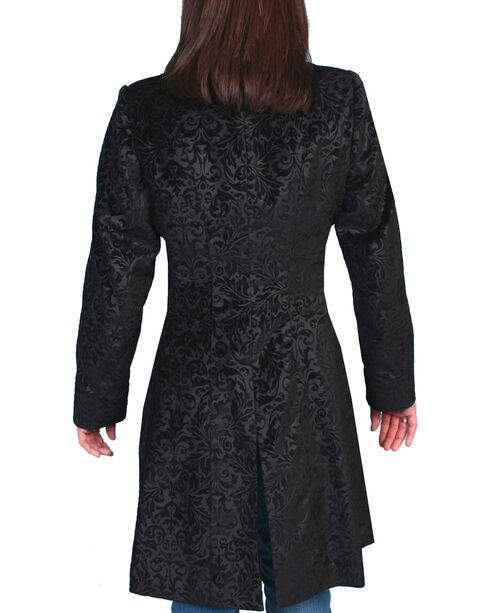 WahMaker by Scully Floral Flocked Coat, Black, hi-res