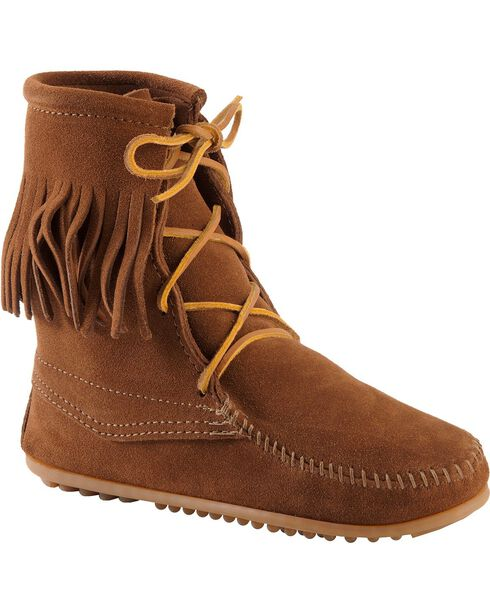 Minnetonka Women's Tramper Boots, Brown, hi-res