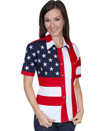 Rangewear by Scully Ladies Stars And Stripes Shirt, , hi-res