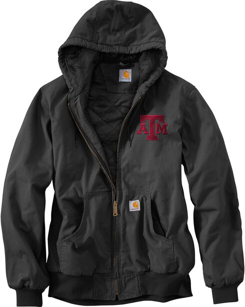 Carhartt Texas A&M Aggies Sandstone Active Jacket, Black, hi-res