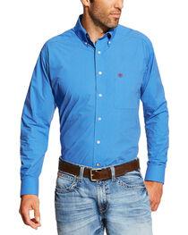 Ariat Men's Blue Allen Print Shirt, , hi-res
