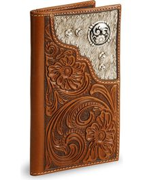 Nocona Men's Rodeo Wallet and Checkbook Cover, , hi-res