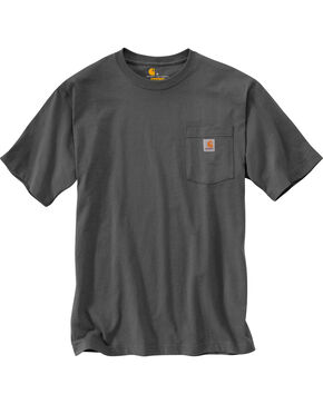 Carhartt Short Sleeve Pocket Work T-Shirt - Big & Tall, Charcoal Grey, hi-res