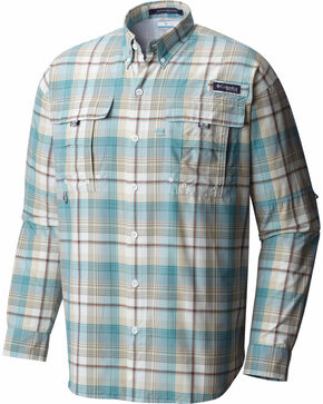 Columbia Men's Sage Super Bahama Plaid Shirt , Sage, hi-res