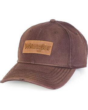 Wrangler Men's Vintage Logo Patch Ball Cap, Brown, hi-res