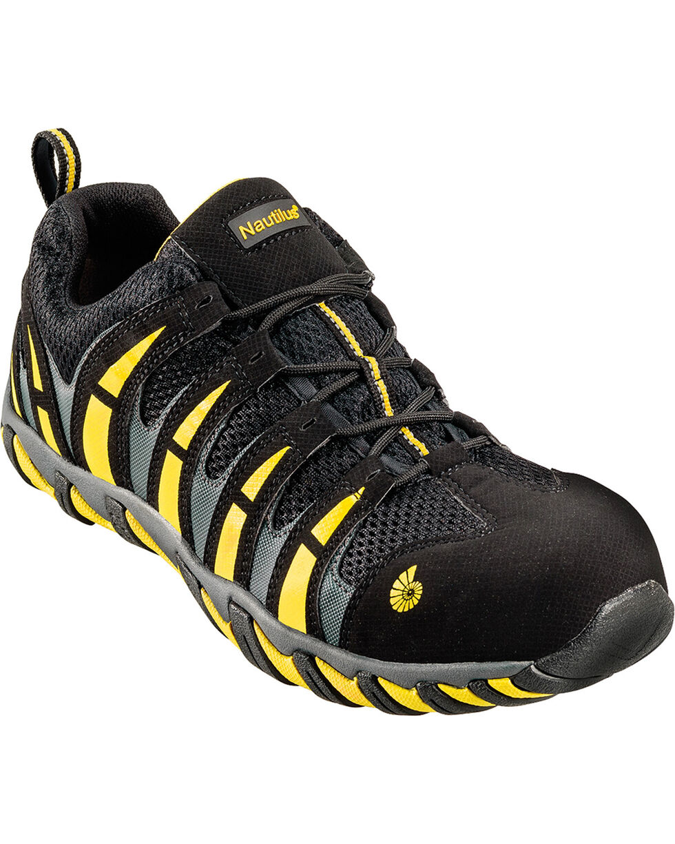 Nautilus Men's Composite Toe EH Athletic Shoes, Blk/yellow, hi-res