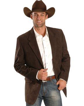 Black Microsuede Western Jacket , Brown, hi-res