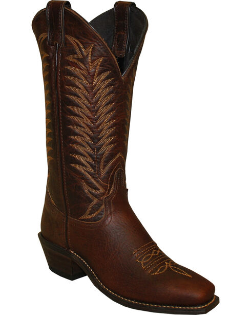 "Abilene Women's 12"" Bison Western Boots - Snip Toe, Brown, hi-res"