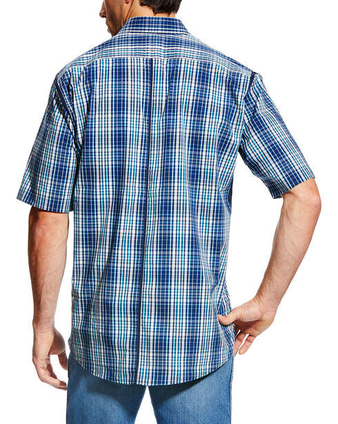 Ariat Men's Rebar Short Sleeve Work Shirt - Big & Tall, Navy, hi-res