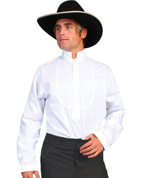 Rangewear by Scully High Collar Bib Front Shirt - Big & Tall, White, hi-res