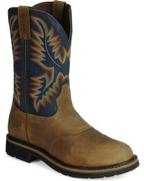 Justin Men's Stampede Work Boots, , hi-res