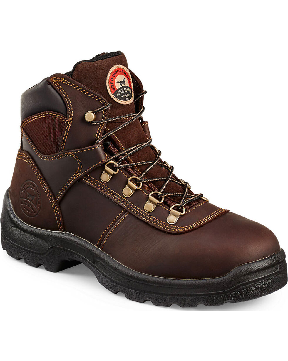 Irish Setter by Red Wing Shoes Men's Brown Ely Hiker Work Boots - Steel Toe , Brown, hi-res