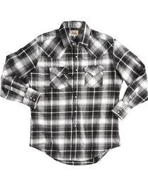 Ely Cattleman Men's Black Brawny Flannel Shirt - Tall , , hi-res