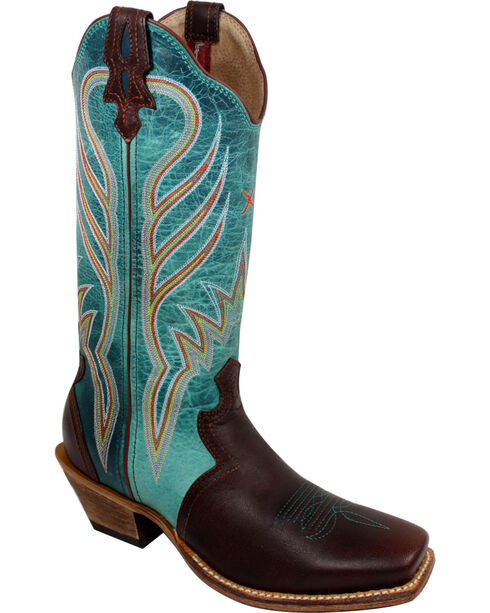 Twisted X Women's Steppin' Out Western Boots, Saddle Brown, hi-res