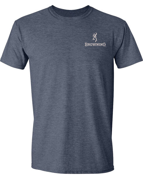 Browning Men's Duck Band Buckmark Navy Short Sleeve Tee, Navy, hi-res