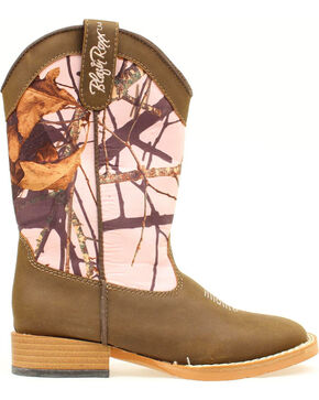Blazin Roxx Girls' Youth Briar Pink Mossy Oak Boots - Round Toe, Brown, hi-res