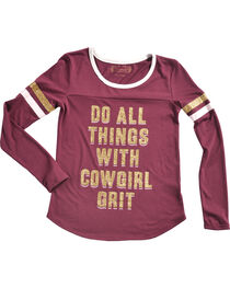 Shyanne Girls' Do All Things Glitter Knit Shirt, , hi-res