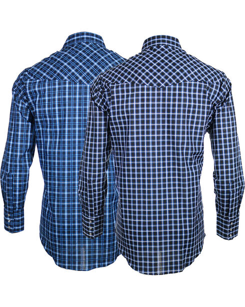 Ely Cattleman Men's Assorted Classic Plaid Long Sleeve Shirt, Multi, hi-res