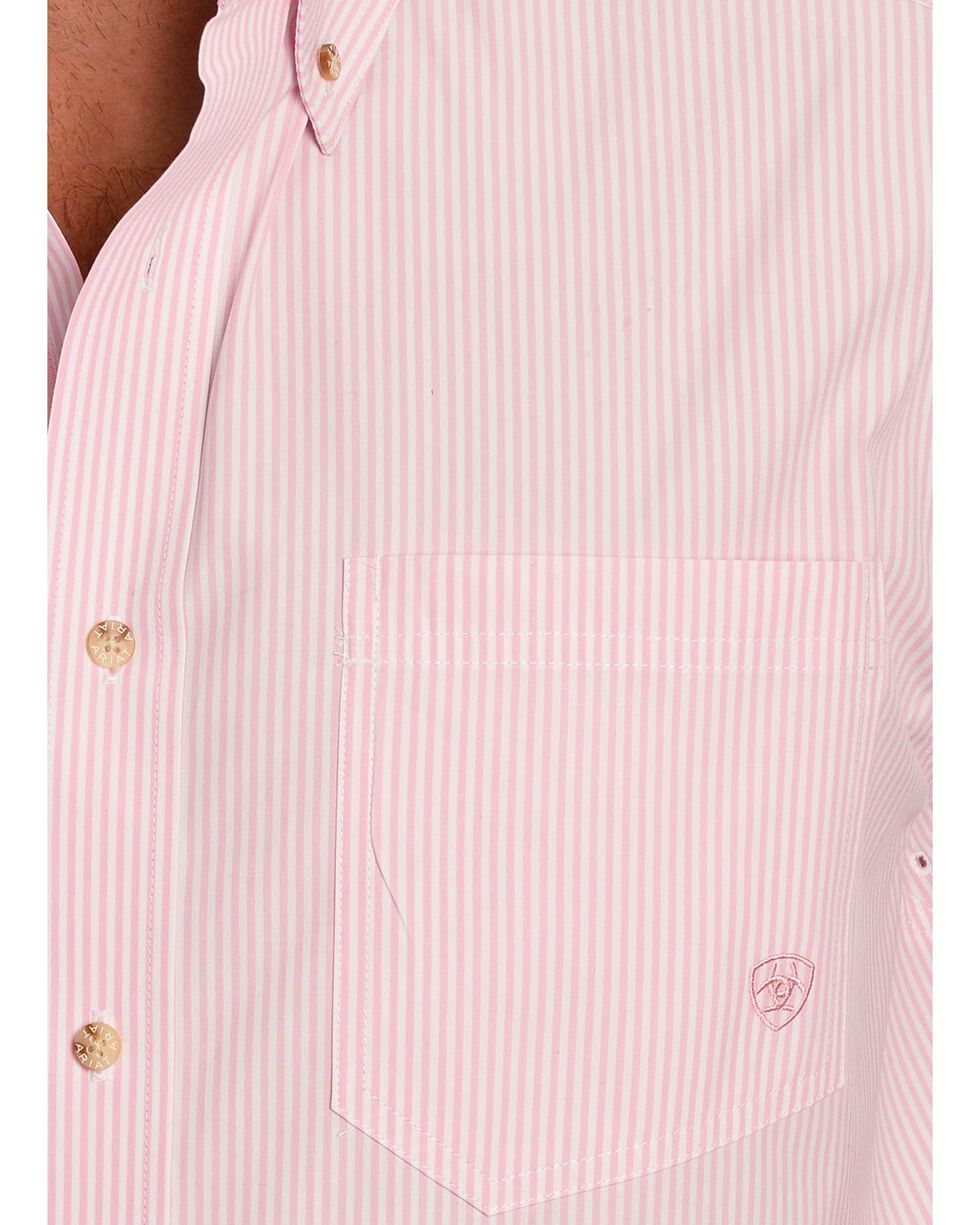 Ariat Pink Balin Stripe Long Sleeve Shirt, Pink, hi-res