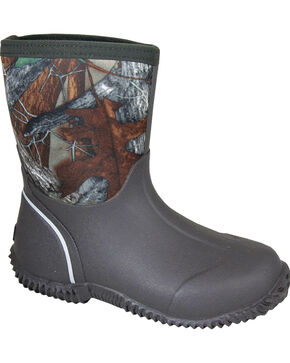 Smoky Mountain Boys' Amphibian Camo Waterproof Boots, Brown, hi-res