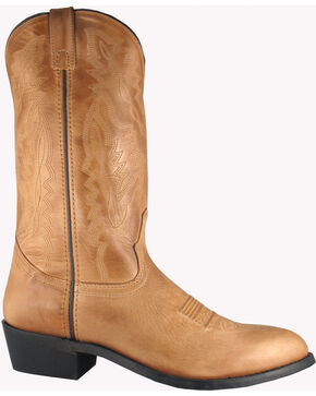 Smoky Mountain Men's Bomber Cowboy Boots - Round Toe, Tan, hi-res