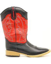 Double Barrel Boys' Trailboss Cowboy Boots - Square Toe, , hi-res