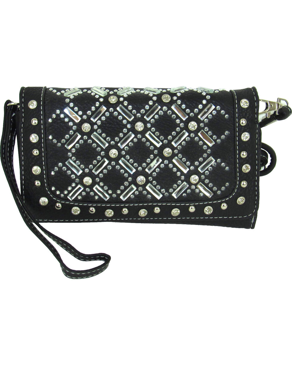Savana Women's Tri-Fold Embellished Wallet , , hi-res