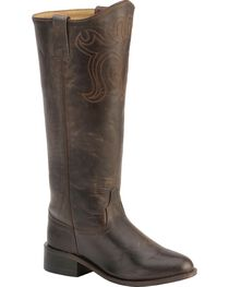 Old West Riding Boots - Round Toe, , hi-res