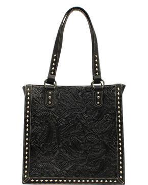 Blazin' Roxx Women's Tooled Tote Bag, Black, hi-res