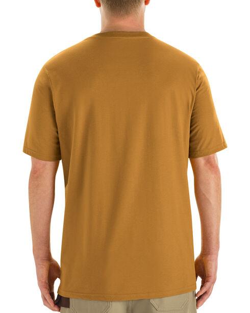 Red Kap Men's Brown Solid T-Shirt , Brown, hi-res