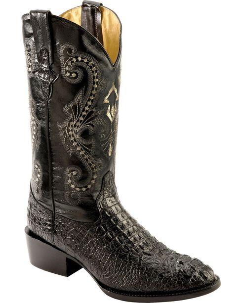 Ferrini Caiman Croc Print Cowboy Boots - Round Toe, , hi-res
