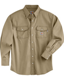Carhartt Men's Flame Resistant Snap Front Shirt - Big & Tall, , hi-res