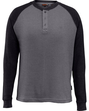 Wovlerine Men's Rykker Long Sleeve Henley Shirt , Black, hi-res