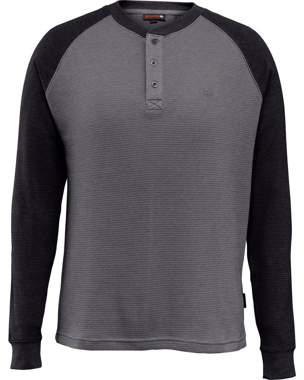 Wovlerine Men's Rykker Long Sleeve Henley Shirt , Black, hi-res