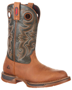 Rocky Boot Men's Long Range Waterproof Western Work Boots - Round Toe, Brown, hi-res