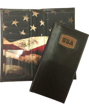 Danbury Men's Brown Leather Checkbook Wallet, Brown, hi-res