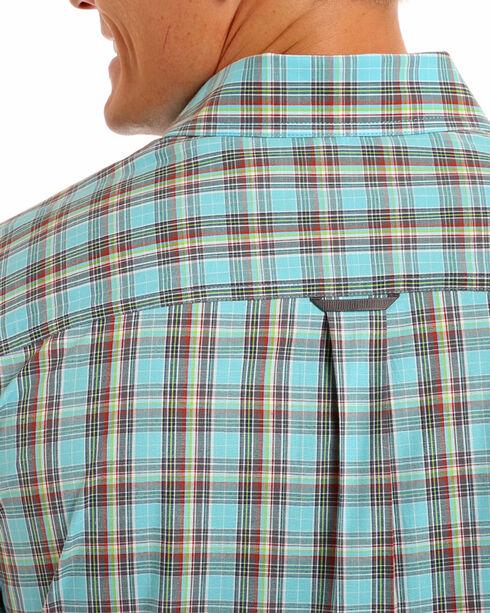Tuf Cooper Performance Men's Competition Fit Blue Plaid Shirt , Blue, hi-res