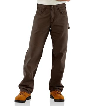 Carhartt Men's Flame-Resistant Relaxed Fit Work Pants, Dark Brown, hi-res