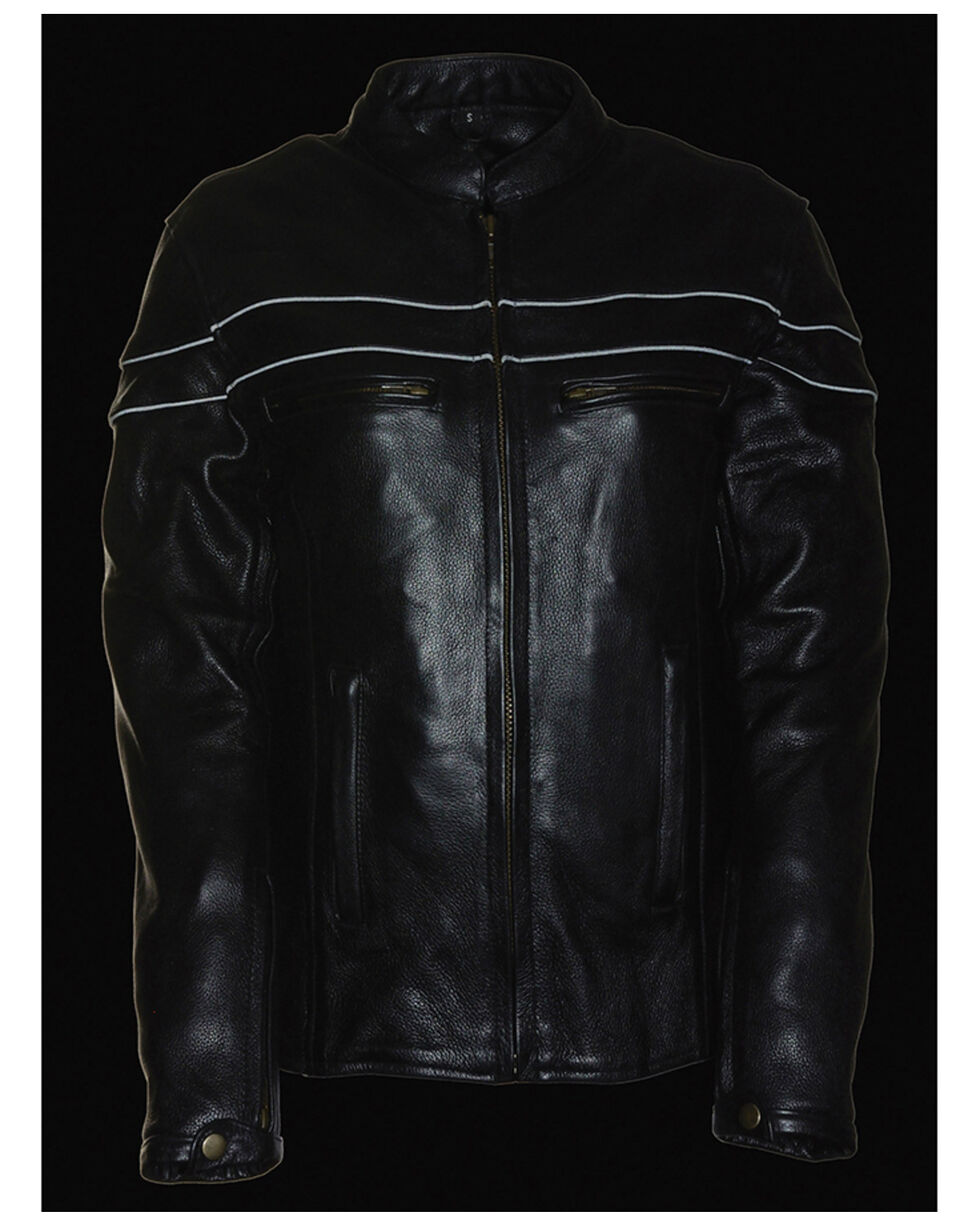 Milwaukee Leather Women's Sporty Scooter Crossover Leather Jacket - 4X, Black, hi-res