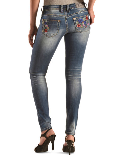 Grace in LA Floral Skinny Jeans, Denim, hi-res