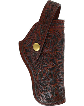 3D Belt Co Basket Weave Revolver Holster, Brown, hi-res